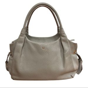 Kate Spade Gray Stevie Southport Ave Leather Bag